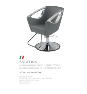 BE ANGELINA (LOW GREY) SWIVEL STYLE CHAIR