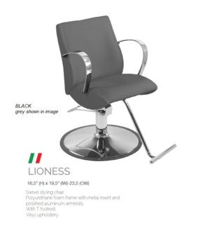 BE LIONESS (HIGH BLACK) SWIVEL STYLING CHAIR