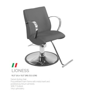 BE LIONESS (HIGH GREY) SWIVEL STYLING CHAIR