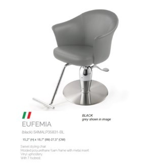 BE EUFEMIA BLACK SWIVEL STYLING CHAIR
