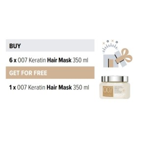 BIO 6 + 1 007 KERATIN HAIR MASK 350ML