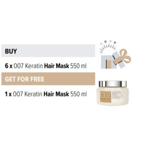 BIO 6 + 1 007 KERATIN HAIR MASK 550ML
