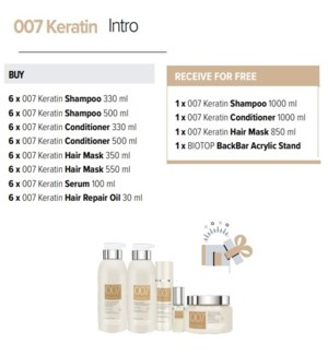 BIOTOP 007 KERATIN SALON INTRO 2020
