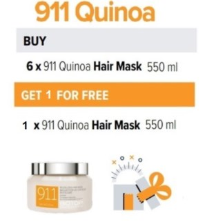 BIO 6 + 1 911 QUINOA HAIR MASK 550ML