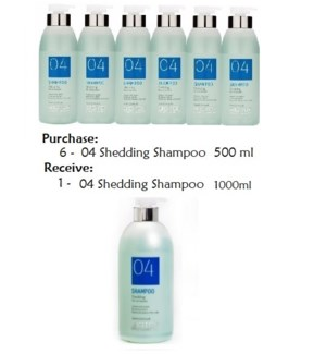BIOTOP SHEDDING SHAMPOO BUY 6 500 ML GET 1 L N/C//MJ'19