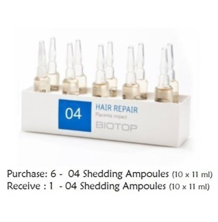 BIO HAIR REPAIR AMPOULES BUY 6 (10X11ML) GET 1 N/C//MJ'19