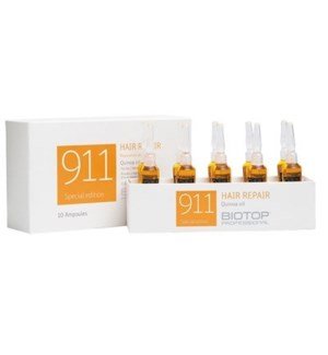 BIOTOP 911  QUINOA OIL HAIR REPAIR TREATMENT- 10 AMPOULES