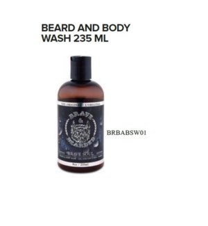 BRAVE AND BEARDED BEARD AND BODY WASH 235ML
