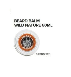 BRAVE AND BEARDED WILD NATURE BEARD BALM 60ML