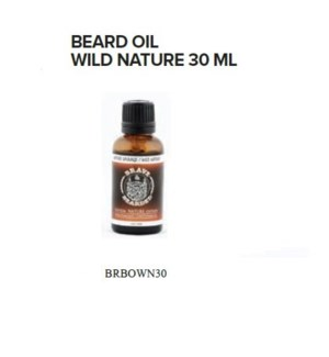 BRAVE AND BEARDED WILD NATURE BEARD OIL 30ML