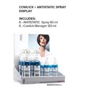 LUC VINCENT COWLICK+ANTISTATIC SPRAY DISPLAY JF'20