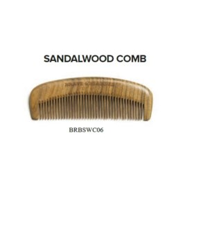 DISC//BRAVE AND BEARDED SANDALWOOD COMB