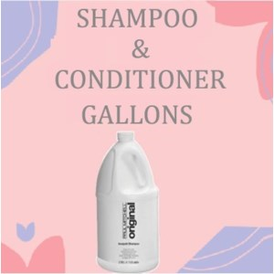 SHAMPOO and CONDITIONER GALLONS