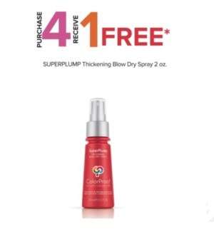 COLORPROOF 4 + 1 SP THICKENING BLOW DRY SPRAY 2 OZ HD'19