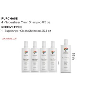 COLORPROOF 4+1 L SUPERSHEER CLEAN SHAMPOO  ND'20