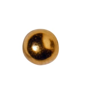 CR INV 24K GOLD PLATED 4MM BALL EARRING