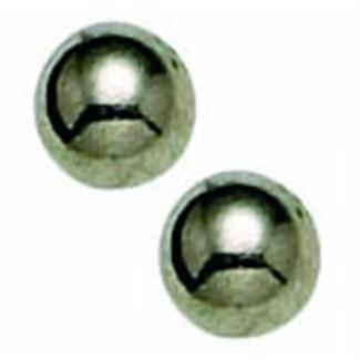 CR INV TITANIUM 4MM BALL EARRINGS