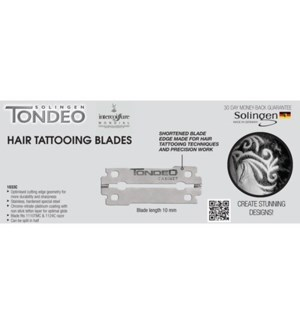 DA TONDEO HAIR TATOOING BLADES 4 PACKS OF 10 BLADES (40)