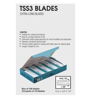 DA TONDEO TSS3 BLADES 100 BLADES (10 PACKS OF 10)