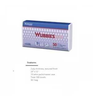 DA WUBBIES MULTI-PURPOSE PAPER TOWELS 50/PK