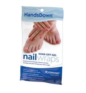 DA HANDSDOWN SOAK-OFF GEL WRAPS (10PC)  (580460)