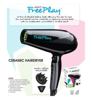 DA AVANTI FREEPLAY CERAMIC HAIRDRYER
