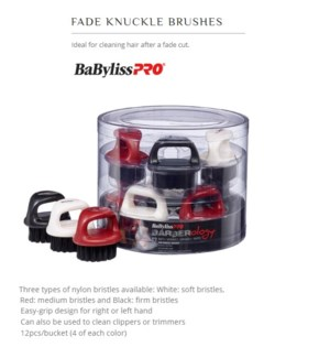 DA BP FADE KNUCKLE BRUSHES BUCKET (12/PC)
