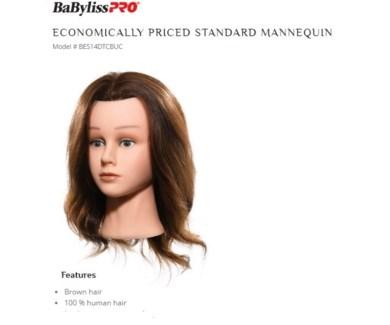 DA BP MANNEQUIN HEAD//EUROPEAN TEXTURE HAIR (14DTCB)