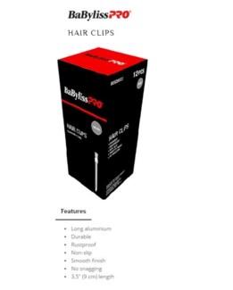 DA BP ALUMINUM HAIR CLIPS LONG 12/BOX