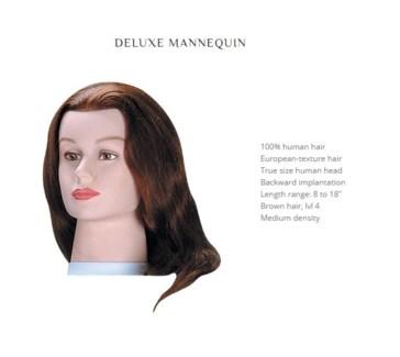 """DA BP DELUXE MANNEQUIN; BROWN 18"""""""