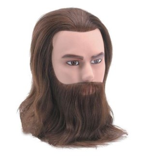 "DA BP MALE MANNEQUIN WITH BEARD APPROX 8"" LENGTH"