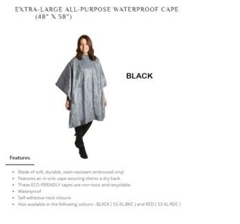 DA BP XL ALL PURPOSE CAPE BLACK