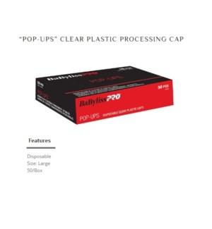 DA BP DISPOSABLE CLEAR PLASTIC CAPS LARGE 50/PCS