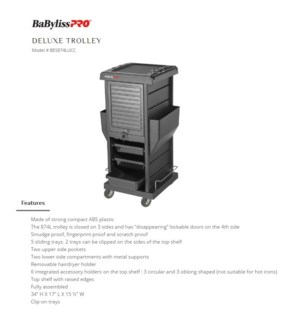DA BP DELUXE TROLLEY W/ LOCKABLE DOORS
