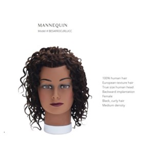 DA BP CURLY HAIR MANNEQUIN BLACK