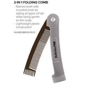 DA BP 2-IN-1 FOLDING COMB (BEARDS AND HAIR)