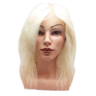 """DA 100% GOAT HAIR MANNEQUIN HEAD (8-12"""")"""