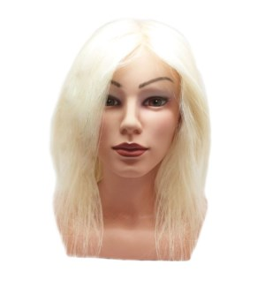 "DA 100% GOAT HAIR MANNEQUIN HEAD (8-12"")"