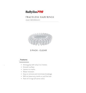 DA BP TRACELESS HAIR RINGS (SET OF 3) CLEAR