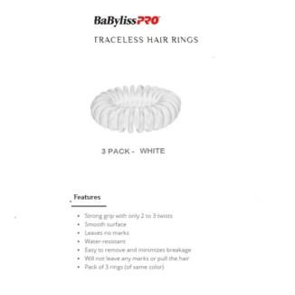 DA BP TRACELESS HAIR RINGS (SET OF 3) WHITE