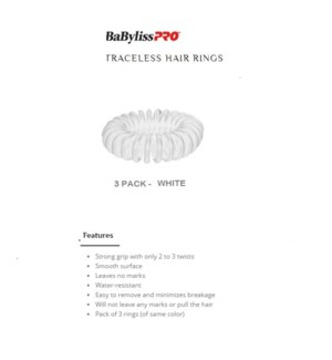 DA BP TRACELESS HAIR RINGS (SET OF 3) WHITE