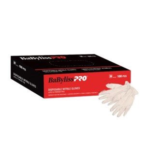 DA BAB PRO DISPOSABLE NITRILE GLOVES WHITE, MEDIUM. 100/BOX.