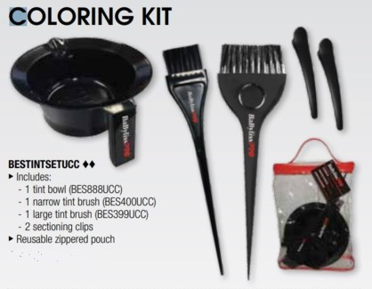 DA BP COLORING KIT ( 1 BOWL, 2 BRUSHES, 2 CLIPS)