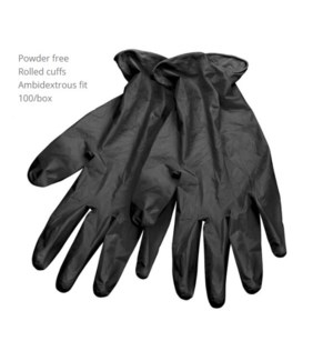 DA BP BLACK DISPOSABLE GLOVES SMALL (100)
