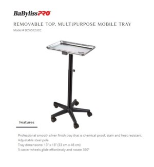 DA BP REMOVABLE TOP MOBILE TRAY