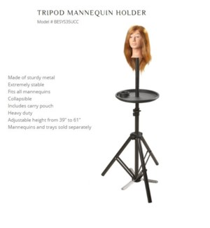 "DA BP TRIPOD MANNEQUIN HOLDER ADJ 39"" TO 61"""
