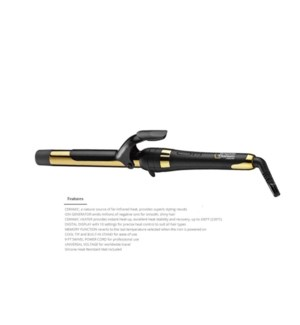 DA BP GRAPHITE TITANIUM CURLING IRON 1""