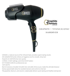 DA BP GRAPHITE TITANIUM DRYER (AC MOTOR)