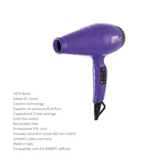 DA BP ITALO LUMINOSO HAIRDRYER - PURPLE