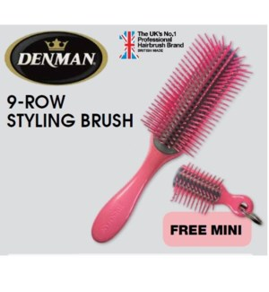 DA DENMAN 9 ROW STYL BRUSH W/ MINI KEYCHAIN BRUSH(LE)//MJ'19